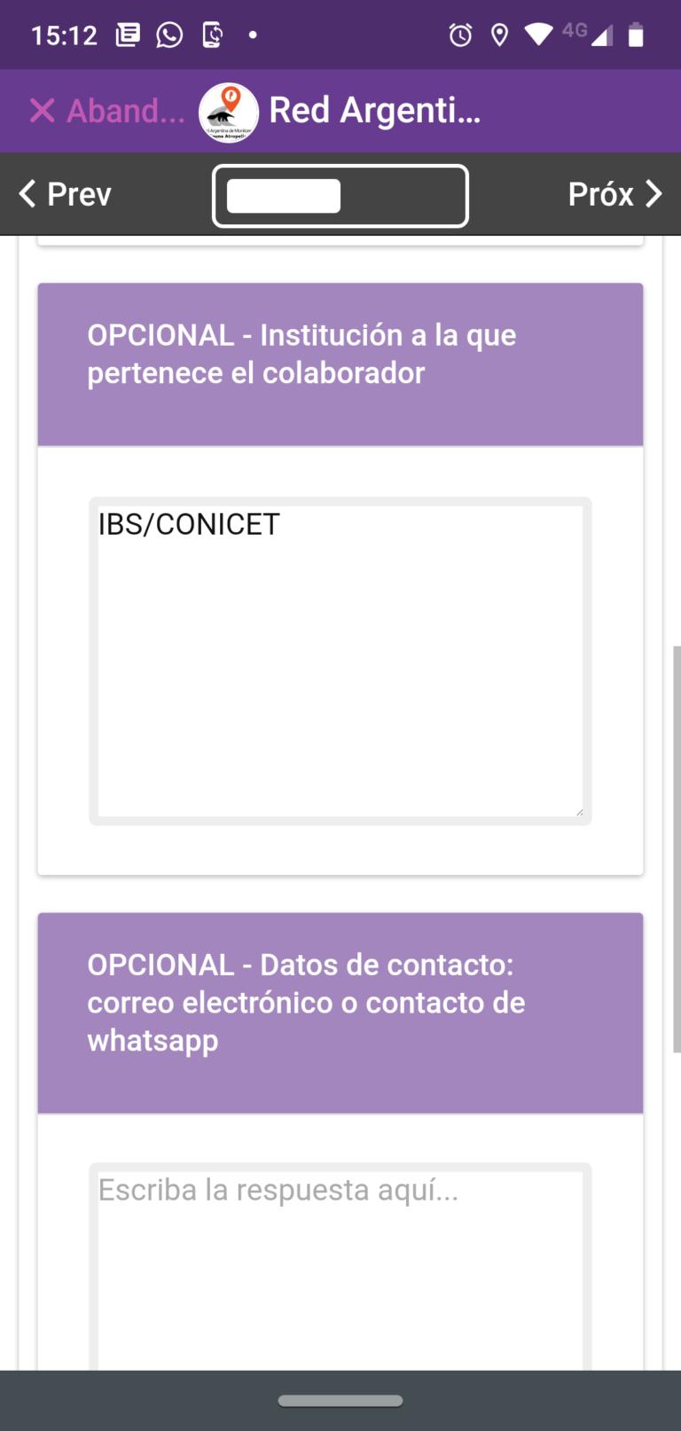 15- Institución y contacto (opcional)